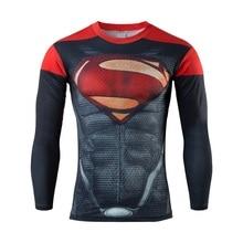 High Quality 2016 Marvel Captain America 2 Soldier costume 3d Super Hero jersey Long sleeves camisetas t shirt men
