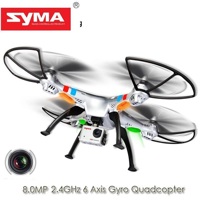 Retail Packaging Syma X8G 2.4G 4ch 6 Axis Venture with 5MP HD Camera RC Quadcopter RTF RC Simulators Battery And Blades Gifts цены