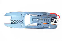 15″ M380 Electric Brushless RC Racing Boat KIT Catamaran Painted Hull Only RC Boats