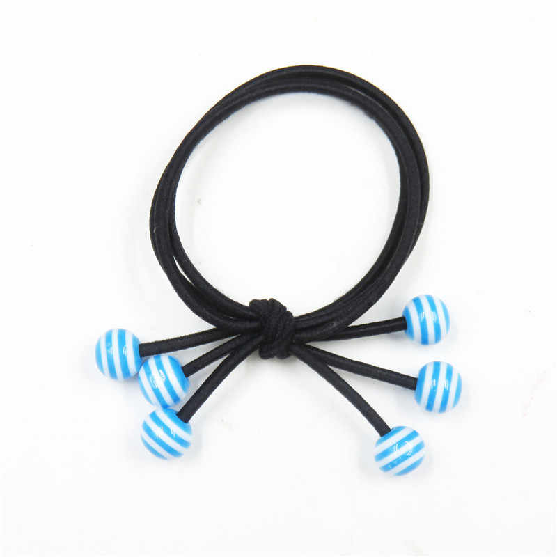 1PCS Blue Stripe Bead Hair Accessories For Women Headband,Elastic Bands For Hair For Girls,Hair Band Hair Ornaments For Kids