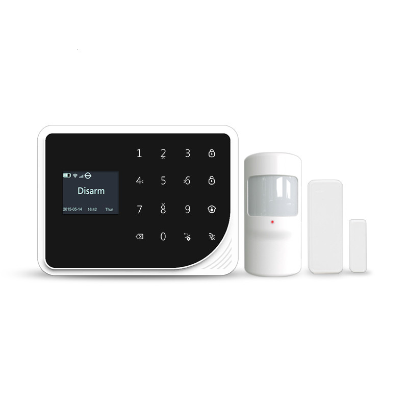 433mhz gsm wifi home burglar alarm system APP mobile phone operation arm/disarm Russian/ Spanish voice alarm system цена