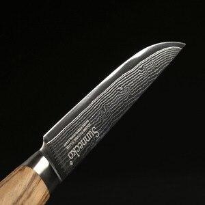 Image 4 - SUNNECKO 5 Utiltiy nóż 73 warstwy Damascus Steel japoński VG10 ostry nóż uniwersalne noże kuchenne oryginalny drewniany uchwyt