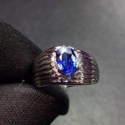 Хорошее ювелирное изделие, настоящая Платина Pt900, 100% натуральный 0,79ct синий драгоценные камни-сапфиры, алмазы, кольцо для мужчин