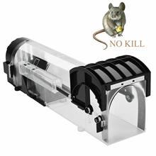 Многоразовая умная ловушка для мыши гуманная прозрачная пластиковая ловушка для удаления грызунов Ловца мышей Piege Rat живая ловушка для внут...