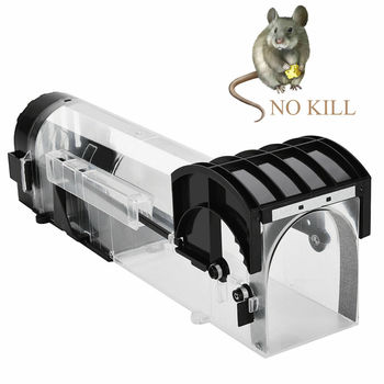 Reusable Smart Mouse Trap Humane Clear Plastic No Kill Rodents Catcher Mice Piege Rat Live Trap for Indoor Outdoor Pest Control