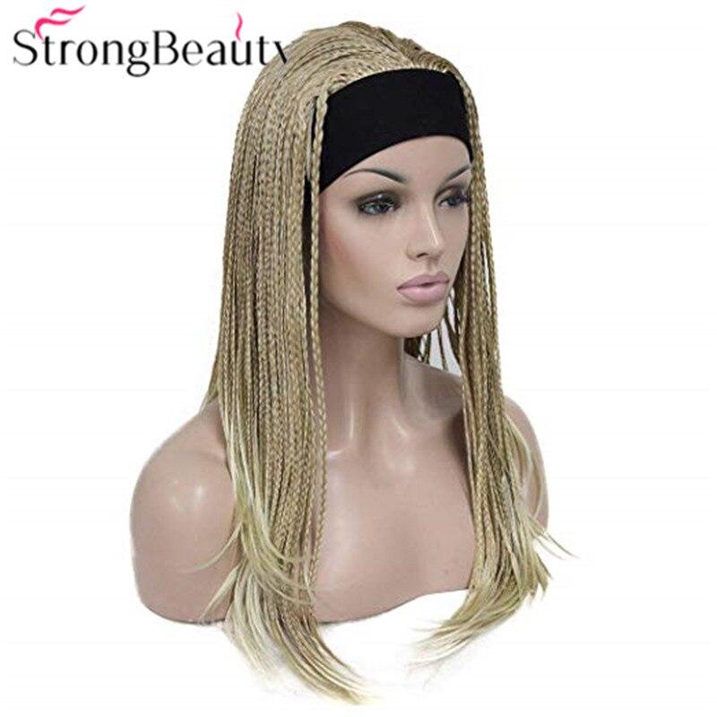 Strongbeauty Long Braided Wigs Braiding Crochet Hair Synthetic Women Wig With Headband Hair Crochet Hair Hairhair Long Aliexpress