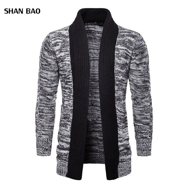 2018 offre spéciale marque-vêtements printemps Cardigan mâle mode qualité coton chandail décontracté mi-long hommes chandails