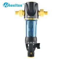 Wheelton מראש מים מסנן מכאני backwashing להגן על מכשיר (הפוך אוסמוזה מטהר מים, דוד, וכו ') 40UM טיהור