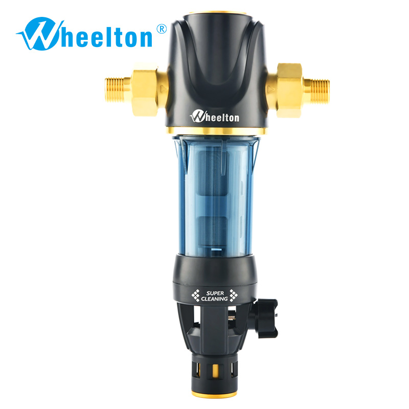 Wheelton Pre Water filter mechanical backwashing protect appliance(reverse osmosis water purifier,heater,etc.) 40UM purification