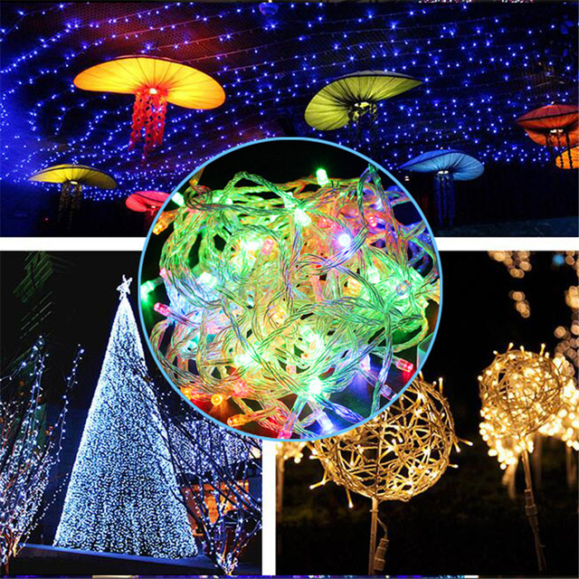 wholesale 50m 9 color ac 110220v string light 400 leds wedding partying christmas tree