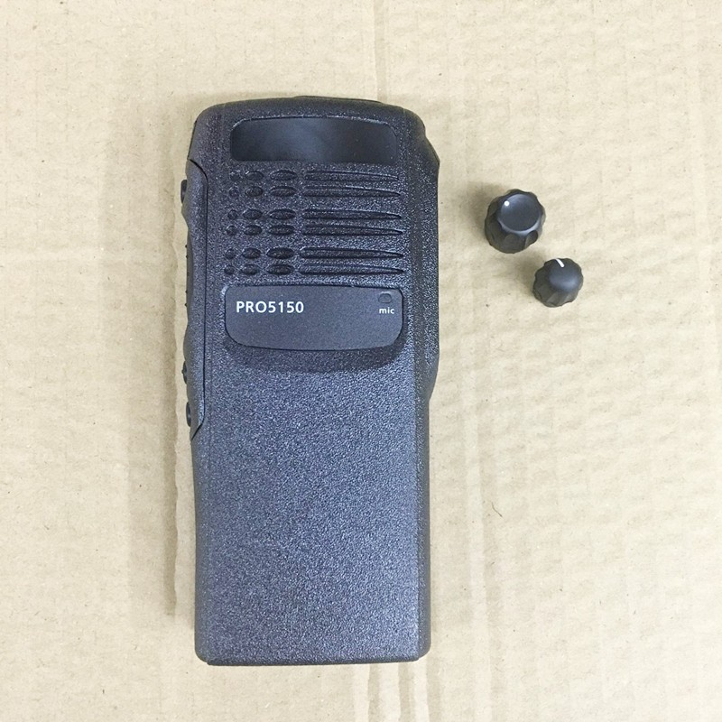 The Housing Front Case Shell For Motorola Pro5150 Walkie Talkie With 2 Knobs,speaker Lock,labels, Plate,dust Cover