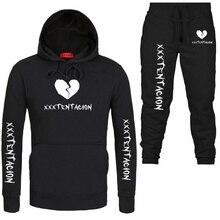 2019 Fashion Suit Men Sportswear Print Hoodies+Pants Winter Autumn Hip Hop Mens tracksuit Sweatshirts Clothing