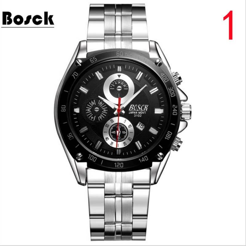 2018 new automatic mechanical watch men's leather belt quartz men's watch waterproof watch tide
