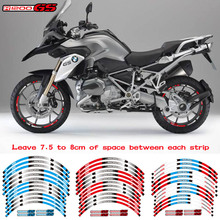 Rim Bmw R1200gs Motorcycle-Wheel-Sticker Reflective New Fit Stripe for 12pcs High-Quality