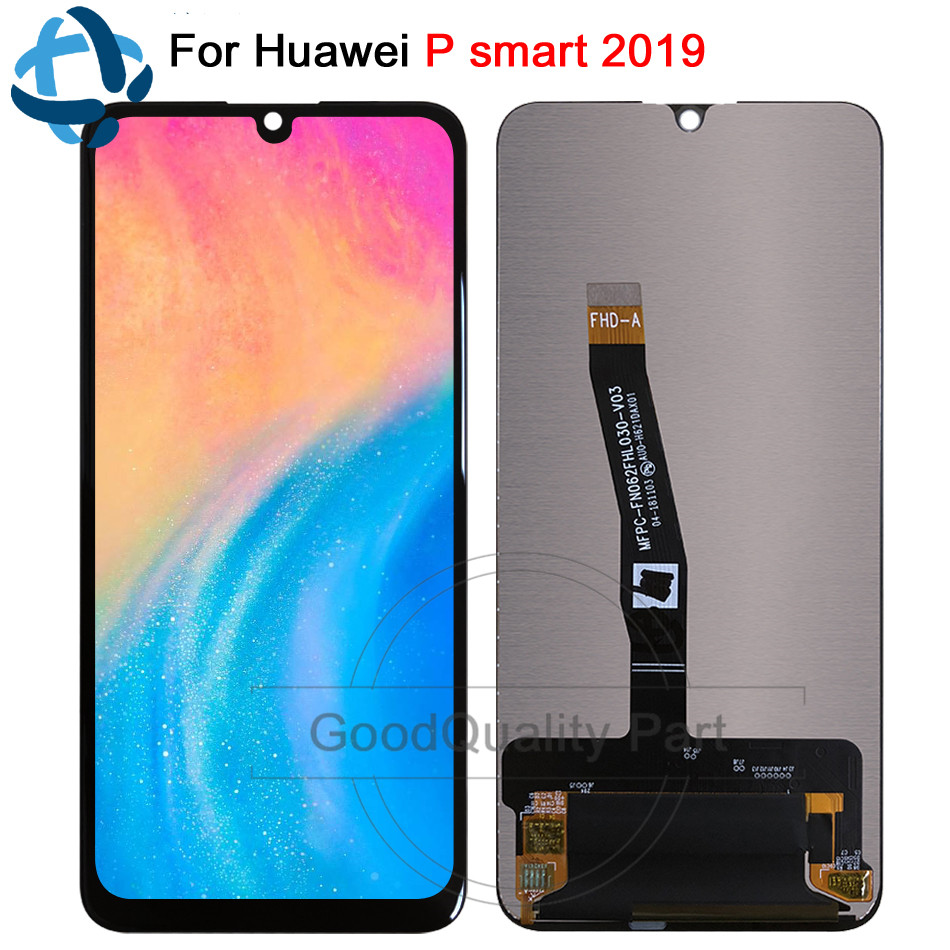 New 6 21 For Huawei P Smart 2019 LCD Display with frame Touch Screen Digitizer Assembly