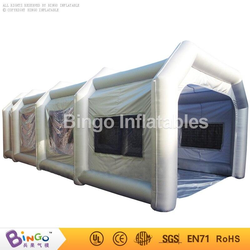 Livraison gratuite cabine de peinture en aérosol gonflable avec filtres haute qualité 10 m tente de tipi structure gonflable pour voiture jouets tentes