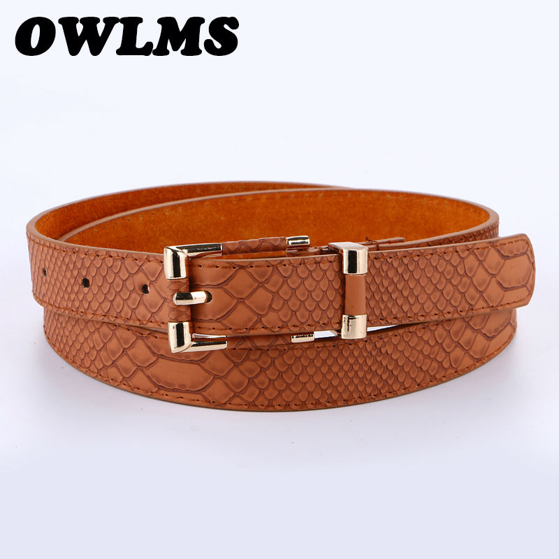 Usnjeni pasovi zlati pin sponke pas za kavbojke visoko kakovostne trendovske ženske blagovne znamke pasu roza zaponka priložnostne ceinture femme