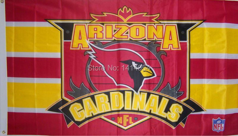 Arizona Cardinals new stripes Flag 150X90CM NFL 3X5FT Banner 100D Polyester grommets custom009, free shipping