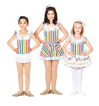 Children's Color Ballet Dance Clothing four-piece Show Costume Pettiskirt Stage Costume