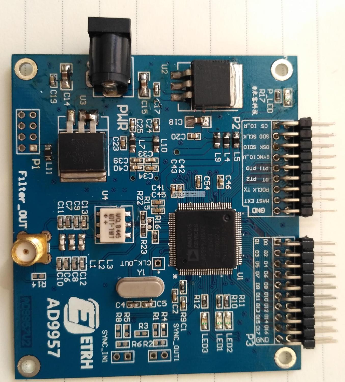 AD9957 манипуляции модуляции Высокая скорость DDS модуль, высокоскоростной РФ источник сигнала, оригинальный IC почты