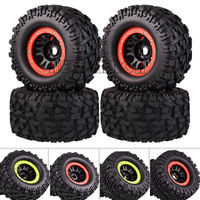 NEW ENRON RC CAR PART RC TIRES 4PCS TIRES 17MM HEX WHEEL & 170MM TIRES FOR RC 1/8 Monster Truck HPI Savage FLUX HSP