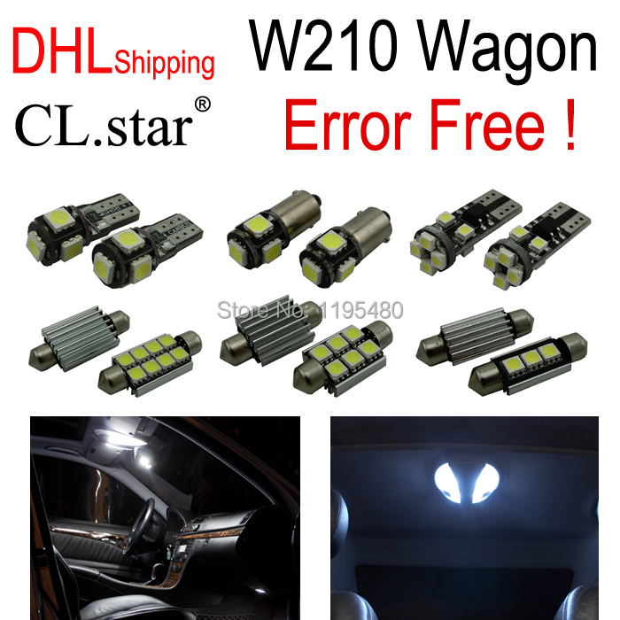 19pc X Error free LED Interior Light Kit For Mercedes for Mercedes-Benz E class W210 Estate Wagon E420 E320 (95-01) DHL shipping auto fuel filter 163 477 0201 163 477 0701 for mercedes benz