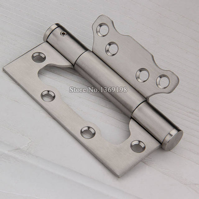 Wholesale 100PCS/lot 4Inch Stainless Steel Door Hinges Heavy Duty Buffer  Hydraulic Mute Door Hinges