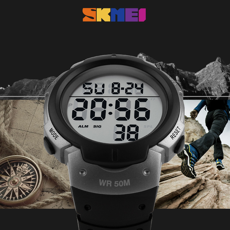 Reojes Hombre Outdoor Sports Watches Men Digital Wristwatches Chronograph Waterproof PU Strap Clocks Relogio Masculino Fashion