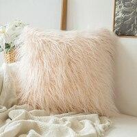Decorativa nova série de luxo estilo falso pele lance travesseiro capa almofada para sofá quarto carro