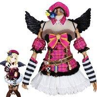 Люблю жить солнце Mari охара Рождество хор Футболка Топ платье равномерное наряд аниме Костюмы для косплея