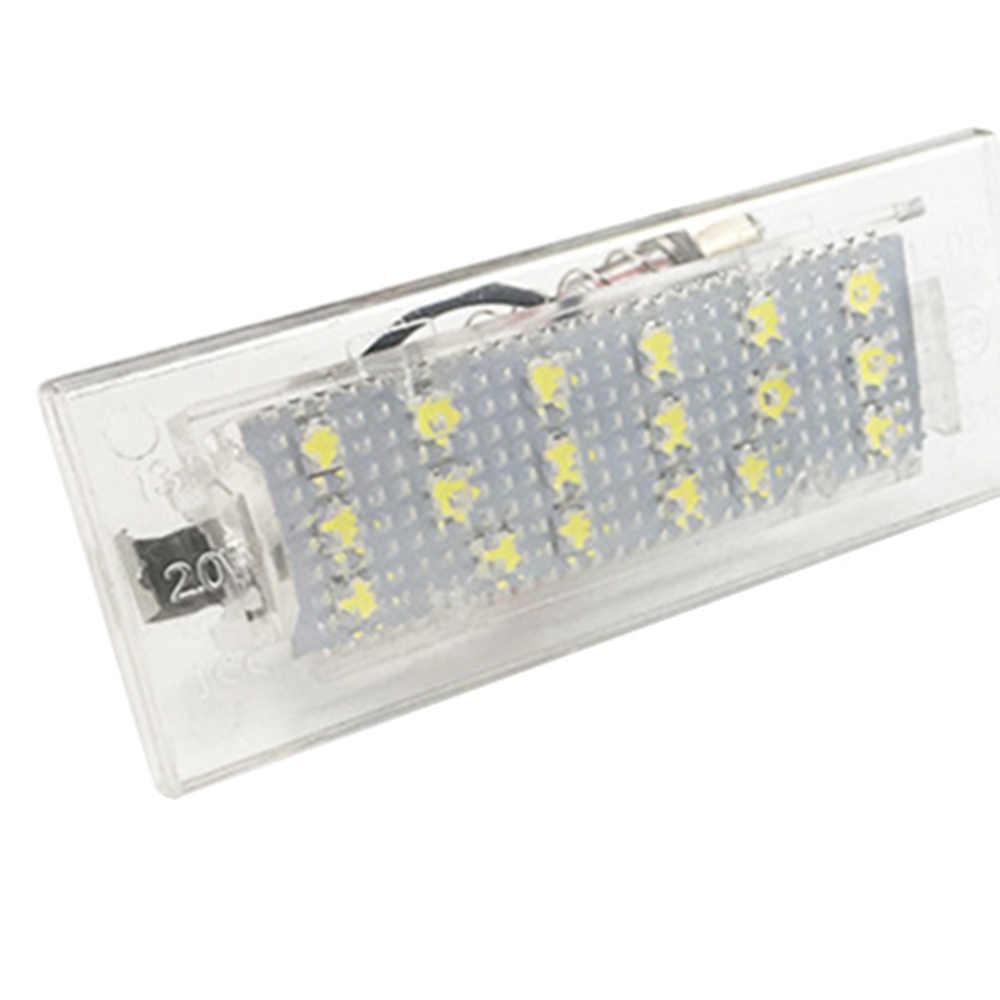 2 pçs para bmw e53 x5 e83 x3 6000k branco 3528 led luzes da placa de licença 12 v lâmpada número