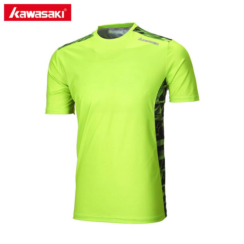 Kawasaki Round Collar Short Sleeve Sports T-Shirt for Men Quick Dry Anti-sweat Fitness Badminton Tennis T Shirt ST-171025