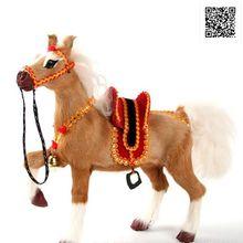 24x7x21cm 새로운 시뮬레이션 말 어린이 장난감 동물 모델 크리스마스 장난감 선물