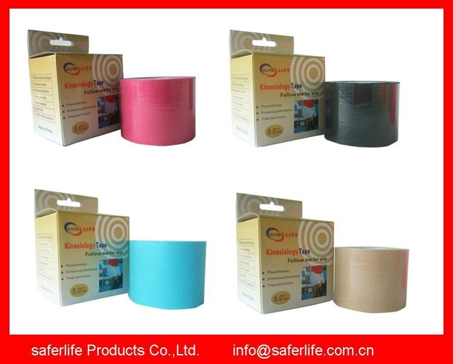 10% off New Arrival Kinesiology Therapy Tape Elastic Kinesiology tape Individual package 5cm x 5m