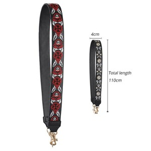 Image 5 - Genuine Leather Embroidered Bag Strap Women Bag Accessories Handbag Strap Lady Beautiful bag belt High Quality Straps For Bags