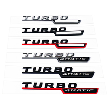 1-20 Pair For AMG 4MATIC TURBO Badge Logo Side Fender Sticker For Mercedes Benz CLA W117 CLA180 CLA200 ML ML350 ML320 ML500 W163