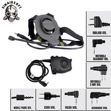 Tactical-Headset Headphone Bowman PTT Airsoft Hunting Kenwod for with Z027/Z112/Ptt Elite-Ii