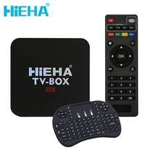 Hieha 1 GB 8 GB 4 K Android 6.0 Tv Box RK3229 Quad Core 1.5 GHz Android Tv 4 K HD Wifi Kodi 17.1 Android Tv Box Set Top boîte
