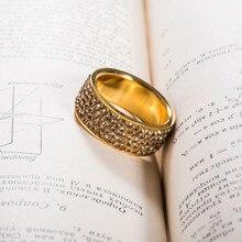 Shining Full Rhinestone Stainless Steel Ring
