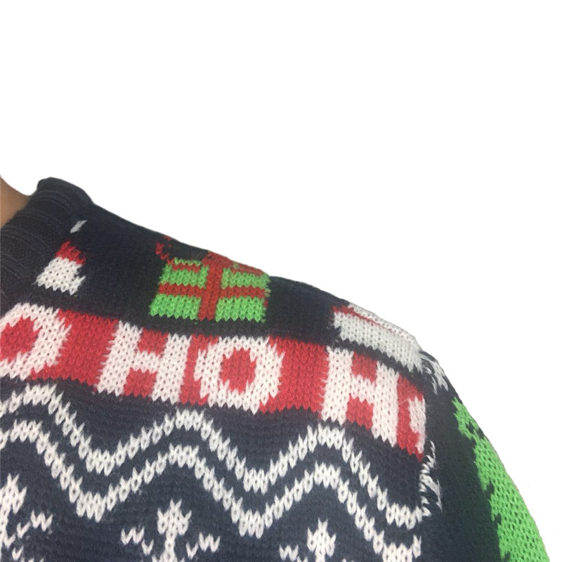 Funny Knitted Ugly Christmas Sweaters for Men and Women Cute Santa Claus Penguin Pattern Ugly Xmas Pullover Jumper Oversized 6