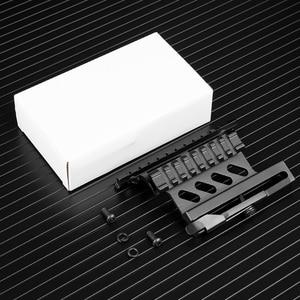 Image 5 - Riel de montaje lateral para Rifle Picatinny Weaver AK Serie Quick QD 20mm picatinny separador de doble cara AK Scope Sight Mount Bracket Rifle