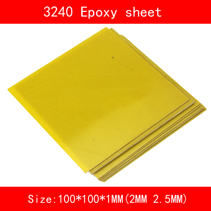 10 piece 3240 Epoxy Sheet Plate 100*100*1mm 2mm 2.5mm Yellow Glass Fibreglass For CNC Machine Mould Home DIY Craft
