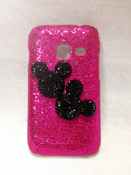 Cute Mickey Luxury Bling Glittering Hard Cover Case for Samsung Galaxy Ace Duos S6802 High Quality Cell Phone Case hard shell