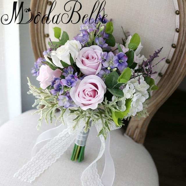 Modabelle Beautiful Pink Purple Bridesmaid Flower Bouquet 2017 ...