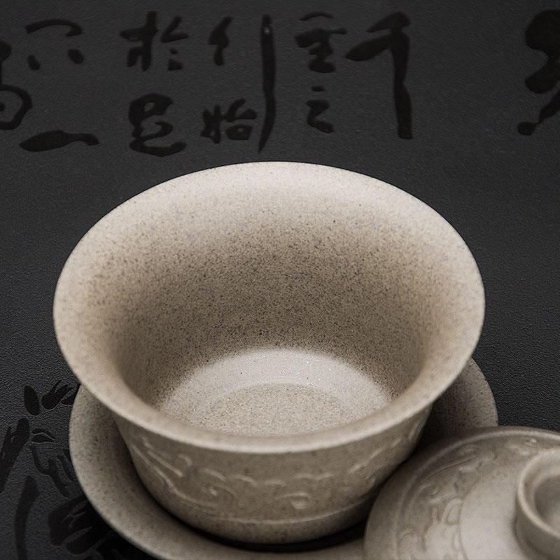 Handmade Dragon Porcelan Tureen Gong Fu Tea Bowl 1