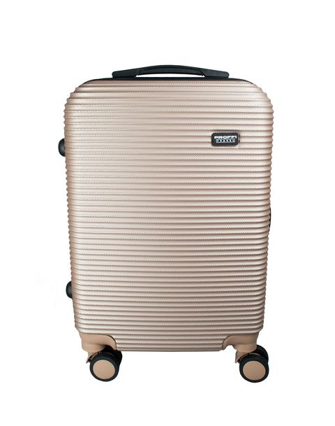 Fashionable suitcase PROFFI TRAVEL PH8858beige S plastic beige with combination lock 4680477017914