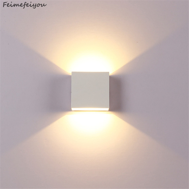 Feimefeiyou 6W lampada LED Aluminium wall light rail project Square LED wall lamp bedside lights bedroom wall decor arts Home Decor & Toys