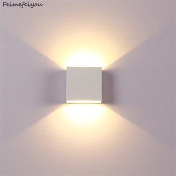wall light lamps outdoor lighting 6W lampada LED Aluminium rail project Square LED lamp bedside lights bedroom wall decor arts