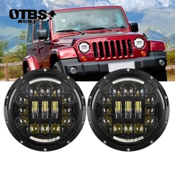 "For Lada Niva Hummer H2 Light 7"" 90W LED Projector Headlight for Jeep Wrangler JK TJ LJ Land Rover Defender Hi/Lo Beam Headlamp"