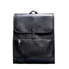 2016 new men's shoulders bag business leather backpack computer academy high school students leisure backpacks